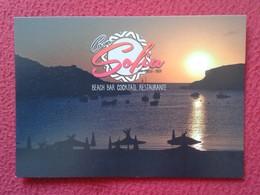 POSTAL POST CARD CARTE POSTALE PUBLICITARIA PUBLICIDAD ADVERTISING IBIZA BALEARIC ISLANDS SPAIN CANA SOFÍA BEACH BAR VER - Publicidad