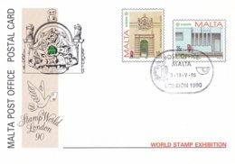 Malta Postal Stationary 1990 Europa CEPT - Used (DD21-17) - 1990