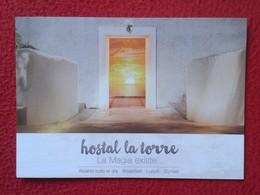 POSTAL POST CARD CARTE POSTALE PUBLICITARIA PUBLICIDAD ADVERTISING IBIZA BALEARIC ISLANDS SPAIN HOSTAL LA TORRE BEAKFAST - Publicidad