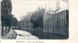 BRUGES-BRUGGE - Le Quai Des Marbriers - Carte Non Divisée - Brugge