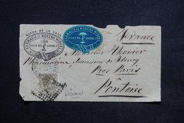 ESPAGNE - Enveloppe Commerciale ( Devant ) De Madrid En  1879 Pour La France - L 23141 - 1875-1882 Royaume: Alphonse XII