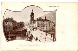 CPA 88 Saint Dié  - Place Et église Saint Martin ( époque1900) - Saint Die