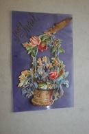 1er Avril - Carte Celluloïd - 1er Avril - Poisson D'avril