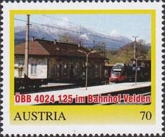 ÖBB 4024 125 Bahnhof Velden, Pers. Briefmarke - Bogennummer 8111422** - Österreich