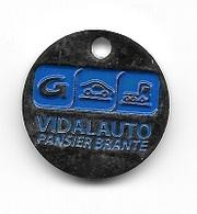 Jeton De Caddie  Ville, Automobile  Groupe  VIDAL  AUTO  PANSIER  BRANTE  à  PUGET  SUR  ARGENS  ( 83 ) Recto  Verso - Jetons De Caddies