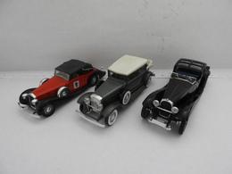 Port Gratuit : 3 Solidos Fabriquées Entre 1075 Et 1979 /  Cadillac V16 1931 ~~ Bugatti Royale 1928 ~~ Delage D6 1939 - Solido