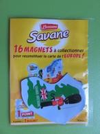 Magnet - Savane Brossard - Carte De L'Europe - Grande-Bretagne - NEUF SOUS BLISTER - Magnets