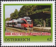 ÖBB 4023 010 Bahnhof Velden, Pers. Briefmarke - Bogennummer 8111423** - Österreich