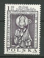 POLAND MNH ** 3429 MORT DE SAINT ALABERT - 1944-.... République