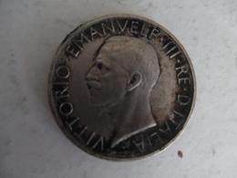 Piece De 5 Lires D'italie  1929 Victor Emmanuel III En Argent - 1861-1946 : Royaume