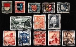 Schweiz Lot Vor 1945, Gestempelt  (siehe Foto) - Timbres