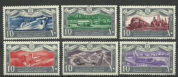 Egypt 1959 Year , Trains Marine Set Stamps Mint MNH (**) - Ägypten