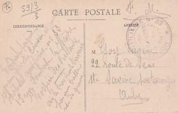 CACHET  HOPITAL  AUXILIAIRE N°  33   RUE  FOUBERT   LE HAVRE   SUR CP DU HAVRE - Guerre 1914-18