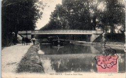 51 - SEPT SAULX -- Canal Et Pont L'Issu - France