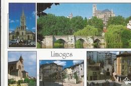 HAUTE VIENNE - 87 - LIMOGES -CPSM GF Couleur - Multivues - Limoges