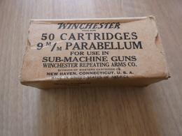 Boite D'origine  VIDE  9mm Para WWII - Armes Neutralisées