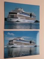 AIDA Stella ( Www.aida.de ) Cruiseschip / Passagierschip ( Zie / Voir / See Photo ) 6 Stuks / Pcs.! - Bateaux