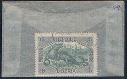Liberia O119 Used Crocodile 1921 (L0672) - Liberia