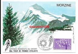 Vélo - Morzine - Carte Postale Timbre -  68 Eme - Tour De France Cycliste - 12 Juillet 1981.ttb++ - Cyclisme