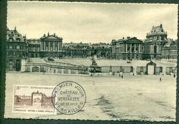 CM-Carte Maximum Card #1952-FRANCE # La Grille D'honneur,Honnour's Gate Du Château (castle) De Versailles (Cote 35,00€) - Maximum Cards