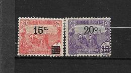 TUNISIE  1911-17  N° 47 Et 69  Timbre De 1906-20 Surchargé   Neuf Avec Trace De Charnière - Neufs