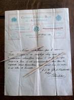 Oud Document  Compagnie Generale  BELGE De AUTOMOBILE 1912 Ondertekend - Automobile