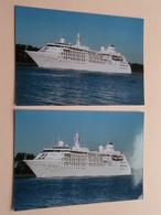 SILVER CLOUD Cruiseschip / Passagierschip ( Zie / Voir / See Photo ) 4 Stuks / Pcs.! - Bateaux