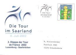 2002  Tour De France Cycliste : étape De Luxembourg à Saarbrücken : 8 Juillet - Ciclismo