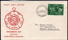 INDIA, 1960 CHILDRENS DAY FDC - Covers & Documents