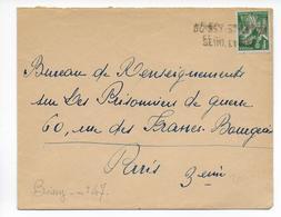 1940 - ANNULATION LINEAIRE SUR IRIS - DEBACLE ET EVACUATION Du MATERIEL POSTAL - ENVELOPPE De BOISSY SAINT LEGER - Marcofilia (sobres)