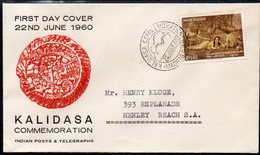 INDIA, 1960 KALIDASA COMMEMORATION FDC - Lettres & Documents