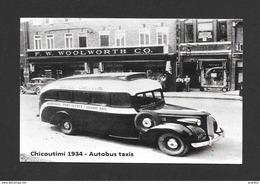 CHICOUTIMI - QUÉBEC - CHICOUTIMI 1934 AUTOBUS TAXIS - AUTOBUS  QUÉBEC - CHICOUTIMI - Chicoutimi