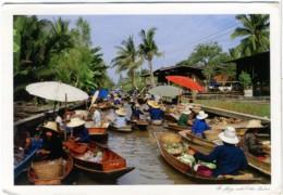THAILAND  TAILANDIA  RATCHABURI  The Colourful Floating Market - Tailandia