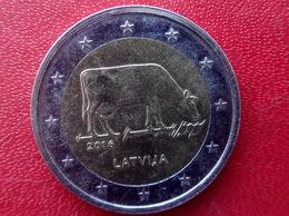 Lettland Latvia 2016 2 Euro Gedenkmünze Cow , Die Kuh ,  Münze  Coin CIRCULATED - Lettonie