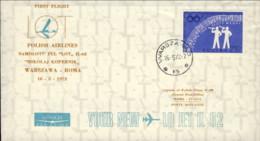 1972-Poland Polska Polonia Aerogramma Delle Linee Aeree Polacche I Volo LOT IL 62 Varsavia Roma Del 16 Maggio - Poste Aérienne
