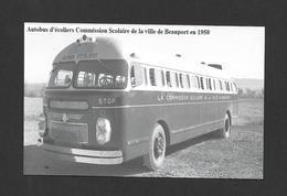 BEAUPORT - QUÉBEC - AUTOBUS D'ÉCOLIERS COMMISSION SCOLAIRE DE LA VILLE DE BEAUPORT EN 1950 - Québec - Beauport