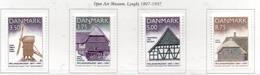 PIA - DANIMARCA -1997 : Centenario Del Museo All' Aperto -  (Yv   1149-52) - Danemark