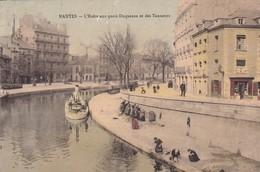 44 / NANTES / L ERDRE AUX QUAIS DUQUESNE ET DES TANNEURS/ JOLIE CATE COLORISEE / PUB CHOCOLAT BERTHELOT AU DOS - Nantes