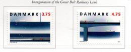 PIA - DANIMARCA -1997 : Ponte Ferroviario Sul Grand-Belt -  (Yv   1153-54) - Danemark
