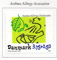 PIA - DANIMARCA -1997 : Associazione Per La Ricerca Sull'asma, Di Natura Allergica - (Yv 1155) - Maladies