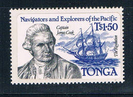 Tonga 562 MNH Self Adhesive James Cook 1984 CV 9.00 (T0078) - Tonga (...-1970)