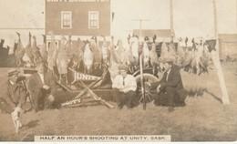 Unity Lumber Company, Half An Hour's Shooting At Unity, Saskatchewan Real Photo Post Card - Saskatchewan