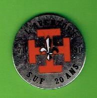 SCOUTS UNITAIRES DE FRANCE 1971 1991 L AVENTURE SUF 20 ANS SCOUT SCOUTISME PINS EN SUPERBE ETAT - Scoutismo