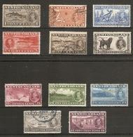 NEWFOUNDLAND 1937 CORONATION LONG SET SG 257/267 FINE USED Cat £50 - Newfoundland
