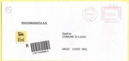 ITALIA - ITALY - ITALIE - 2002 - 002,99€ EMA, Red Cancel - ENI Group - Agip Petroli - Raccomandata A.R. - Viaggiata Da B - Affrancature Meccaniche Rosse (EMA)
