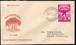 INDIA, 1962 PANCHAYATI DAY FDC - Covers & Documents