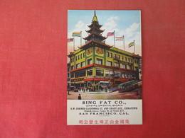 Sing Fat Co. Leading Oriental Bazaar    California > San Francisco      Ref 3165 - San Francisco