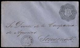 EL SALVADOR. 1892 (e Sep). Metapan To Sonsonate. 5c Grey/blue Stat.envelope. Very Scarce Locally Used. - El Salvador