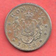 1 Leu , ROUMANIE  , Cupro-Nickel , 1924 , N° KM # 46 - Roumanie