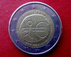 CYPRUS 2009  -- 2 Euro Gedenkmünze EMU  Münze  Coin CIRCULATED - - Cyprus